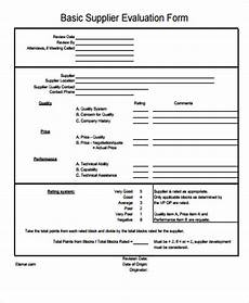 free 6 sle supplier evaluation forms in ms word pdf