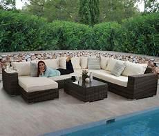 Polyrattan Lounge Set - luxus poly rattan sofa garnitur bilbao lounge set