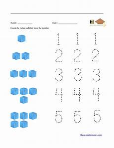 multiplication worksheets for beginners 4404 count and trace numbers from 1 to 5 preschool math worksheets