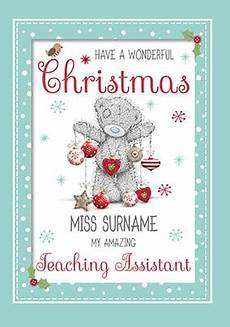 me to you teaching assistant christmas card funky pigeon