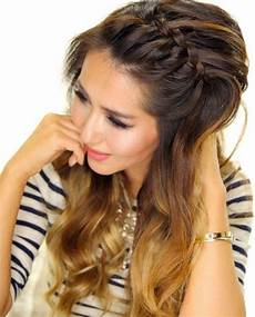 front braid for oval face headband hairstyles braided hairstyles hair images