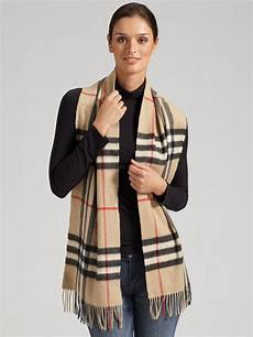 Burberry Check Scarf In Brown Trench Check