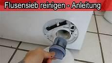 Siemens Waschmaschine Flusensieb Reinigen Anleitung