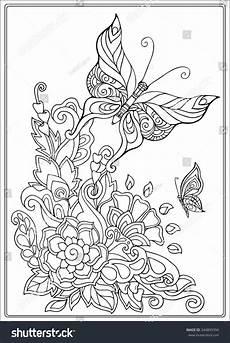 vintage coloring floral coloring pages