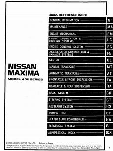 car engine repair manual 2005 nissan maxima on board diagnostic system nissan maxima model a32 series 1999 service manual engine lubrication cooling systems pdf