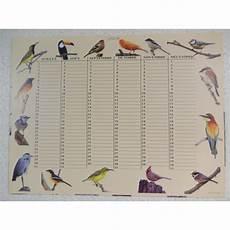 calendrier perpetuel anniversaire personnalisé calendrier perp 233 tuel motifs oiseaux exclusivit 233 carterie poitiers