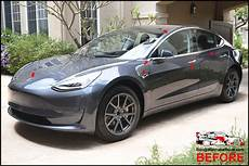 tesla model 3 gray chrome tesla model 3 sedan gloss black complete chrome delete