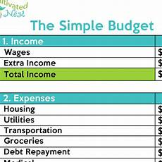 how to make a simple budget