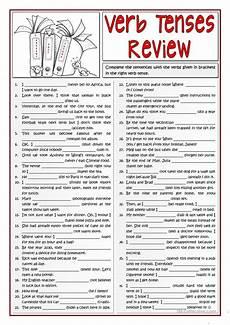 b1 verb tenses review 1 2 worksheet free esl printable