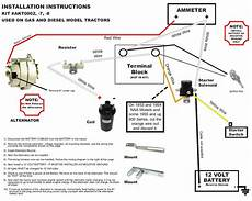 Wiring Diagram For 12 Volt Conversion Of Alternator On Ferguson To 30 by New Ford Naa Tractor Alternator Generator Conversion 681