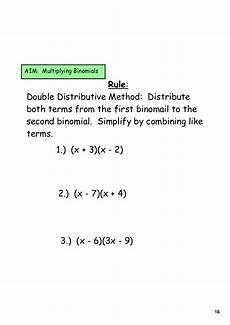day 6 multiplying binomials