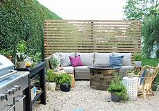 Modern Wood Slatted Outdoor Privacy Screen Details On How