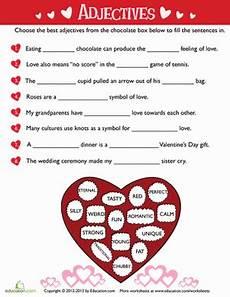 valentine s day adjectives worksheet education com
