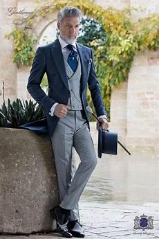 italian bespoke blue wedding morning suit 2107 ottavio