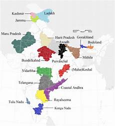 10 different states of india proposed states of india mapporn