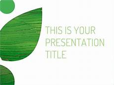 Free Green Powerpoint Template Or Slides Theme With