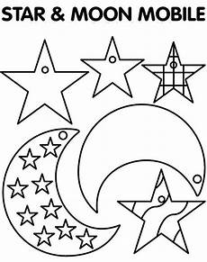 and moon mobile coloring page coloring sky
