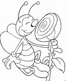 Bienen Comic Malvorlagen Biene Mit Blume 2 Ausmalbild Malvorlage Comics