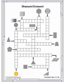 4 best images of geometry crossword puzzles printable math crossword puzzles geometry terms
