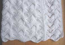 Einfaches Lochmuster Stricken - all knitted lace reversible lace baby blanket pattern release