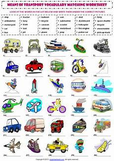 means of transport vocabulary matching exercise worksheet by mi issuu