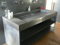 vasque beton et plan vasque beton pour la cuisine