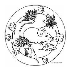 Ausmalbilder Herbst Mandalas Mouse Mandala Maus Basteln Basteln
