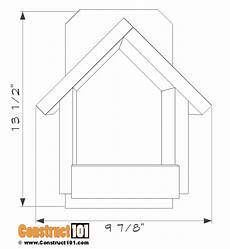 cardinal bird house plans cardinal nesting shelter birdhouse plans construct101