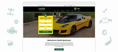 Douglas  Castle Sportscars Website Design