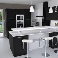 cuisine porte effet soft touch ginko noir mat