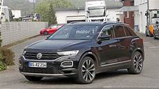 vw t roc r spied undisguised but with the regular model s