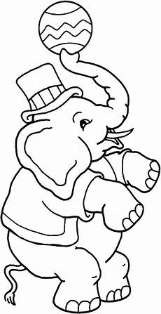 picture of circus elephant coloring pages best place to