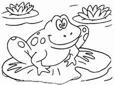 Ausmalbild Frosch Auf Seerosenblatt Malvorlagen Seerosenblatt Coloring And Malvorlagan