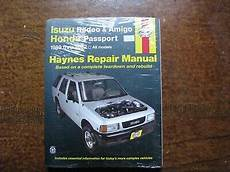 car repair manuals online free 1995 honda passport security system haynes workshop manual isuzu rodeo amigo honda passport 1989 2002 repair service ebay