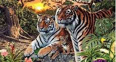 How Many Tigers Can You See In This Painting Abrozzi