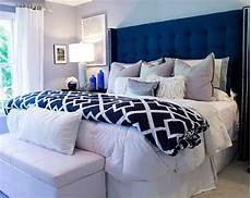 Bedroom Ideas Blue Headboard beautiful bedroom featuring tufted wingback headboard in