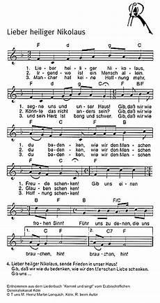 lieber heiliger nikolaus liederkiste