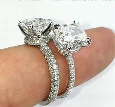 engagement ring band styles three row vs single row