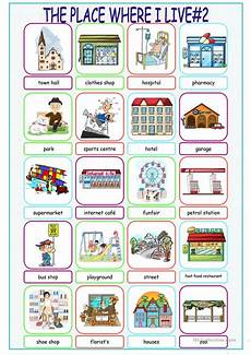 worksheets for places to live 15996 the place where i live picture dictionary 2 esl worksheets