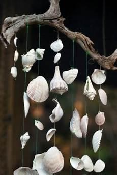 Basteln Mit Muscheln Windspiel - sea shell wind chimes thriftyfun