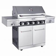 Kitchenaid Bbq Grill Home Depot by Kitchenaid 5 Burner Propane Gas Grill In Stainless Steel