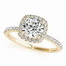 square halo diamond bridal ring band 14k