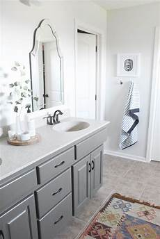 master bathroom oak cabinets painted sherwin williams porpoise walls are behr silver drop