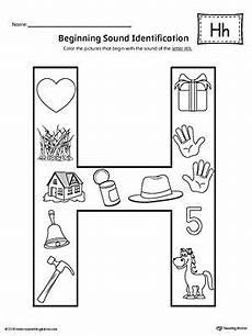 worksheets letter h kindergarten 24342 letter h beginning sound color pictures worksheet letter h worksheets preschool worksheets