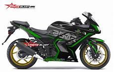 Modifikasi 250 Karbu by Modifikasi Striping Kawasaki 250r Karbu Black Green