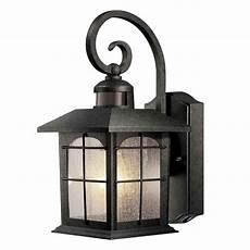 hton bay 180 degree 1 light aged iron outdoor motion sensing wall lantern hb7251m 292