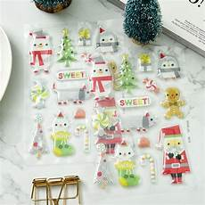 merry christmas self adhesive stickers for scrapbooking diy crafts card making decoration in