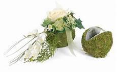 Moos Pflanzkugel Blumen Gesteck Kugel Bepflanzung