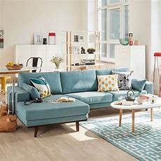 sofa blau skandinavisch ecksofa billund webstoff 999 99 meublement