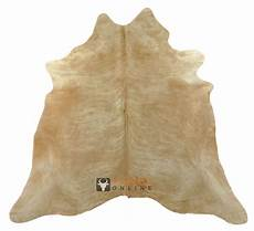 Kuhfell Teppich Beige - kuhfell teppich beige 220 x 185 cm